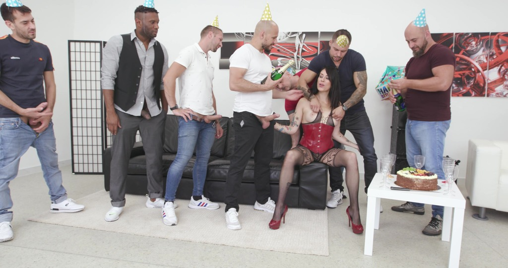 Adeline Lafouine is Unbreakable bday party #1, Anal Fisting, DAP, Monster...