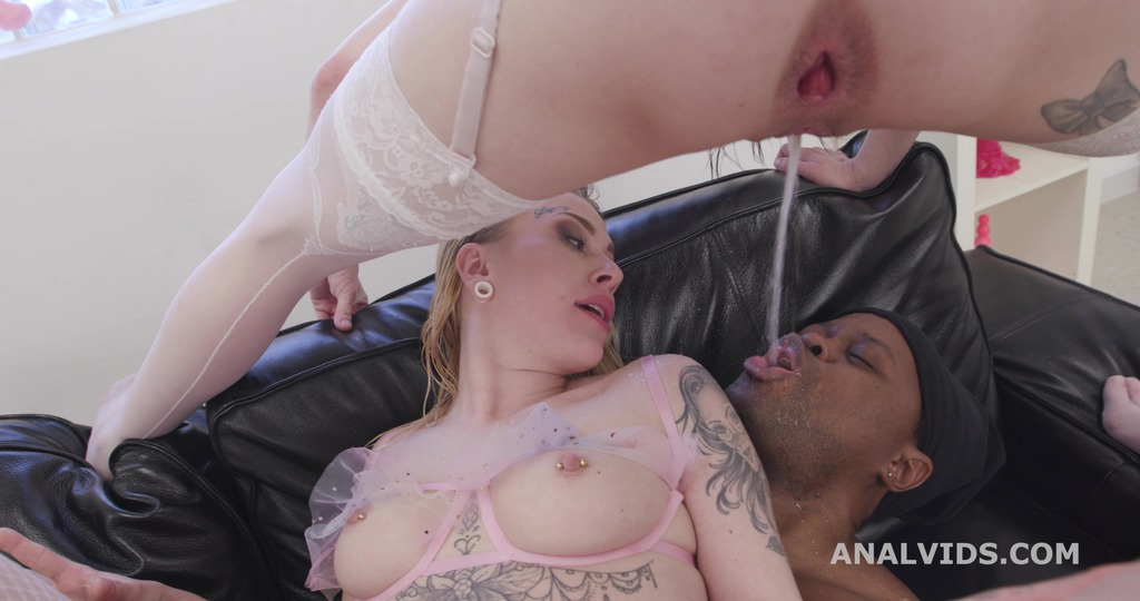 Anna de Ville teaches Chrystal Sinn to Drink and Gape, Balls Deep Anal, DP, DAP, ATOGM, Buttrose, Gapes, Pee Drink GIO1781