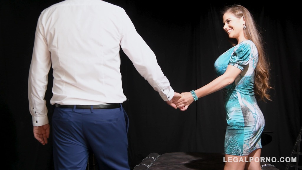 Kinky Dominatrix Cathy Heaven Gets Her Ass Gaped by a Huge Dick and Dildo GP158