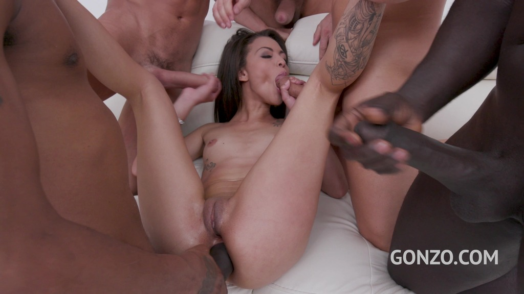 Polly Petrova monster cock fuck session with DP, DVP & oil pushing SZ2331