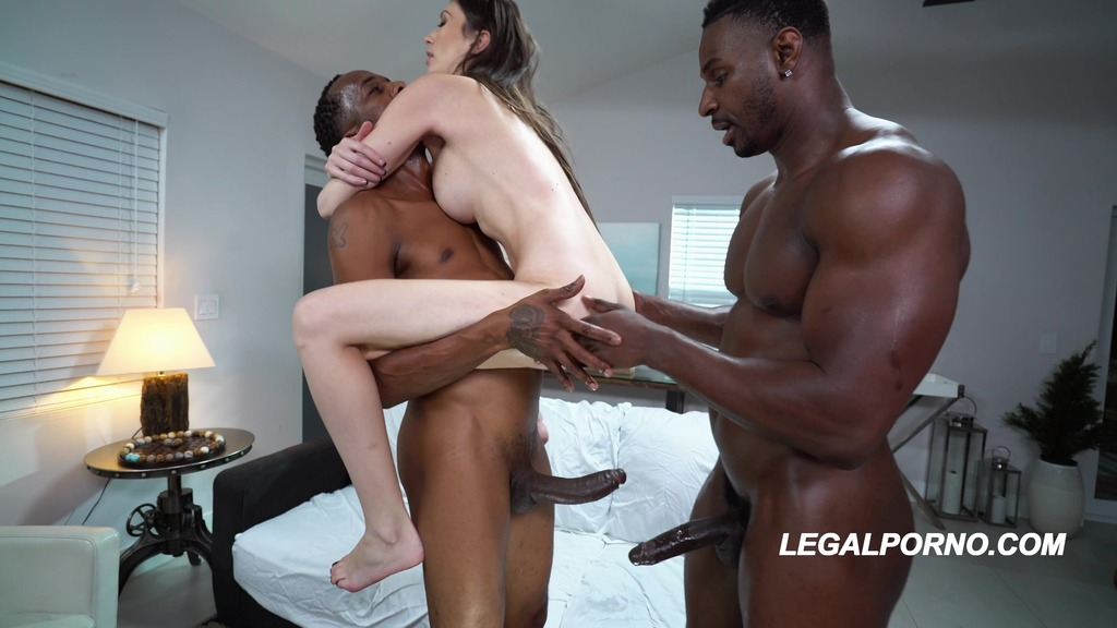First Interracial DP Destroyed Angelina Diamanti