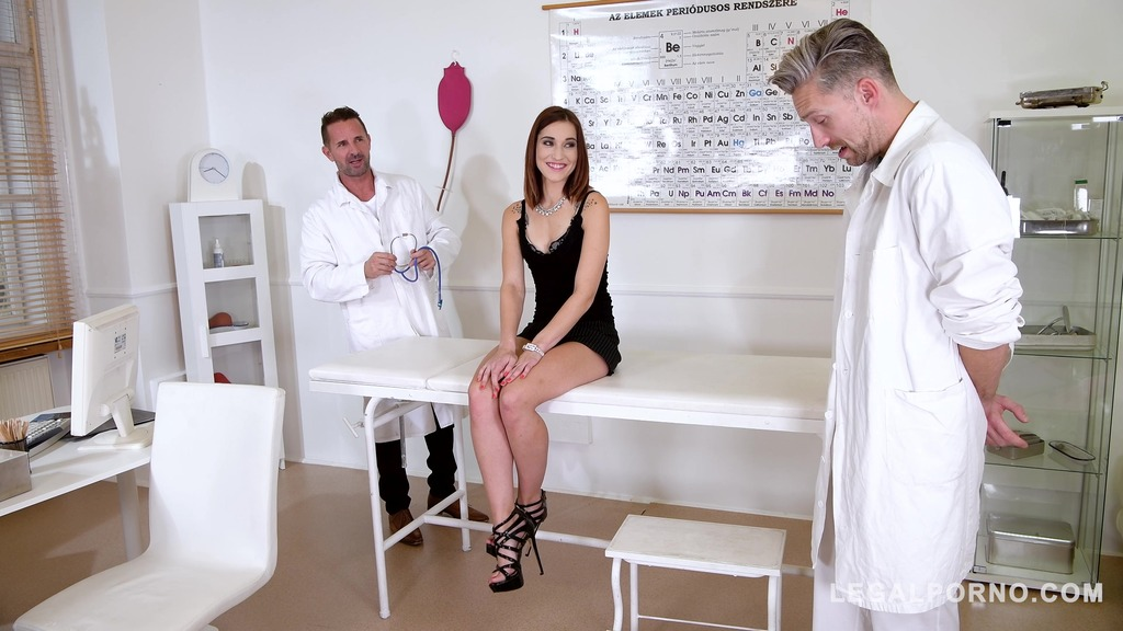Double penetration domination of patient Mina by 2 Doctors makes her scream...