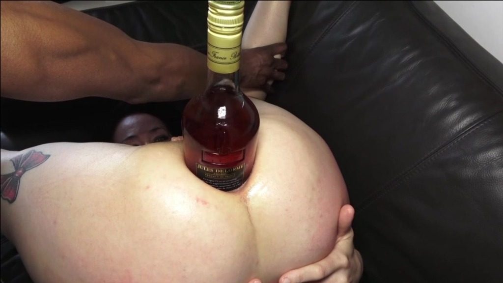Black stud fucks Adeline horny, 0% pussy, squirt, bottle in ass, deep throat, drooling, XXL cock, ass spanking AL022
