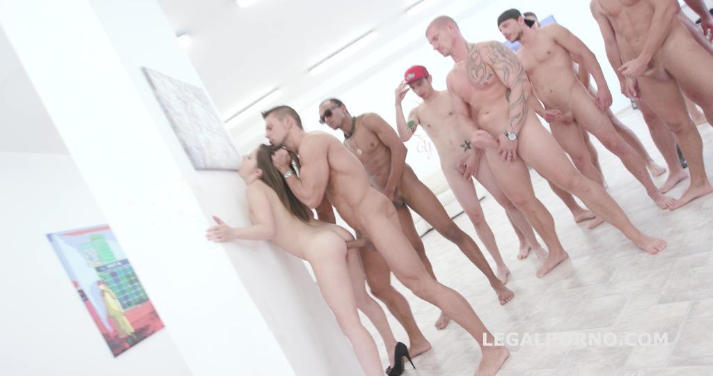 15on1 GangBang with Gabriella Balls Deep Anal / DAP / Gapes / 15 Cumshots with Facial and Swallow GIO455