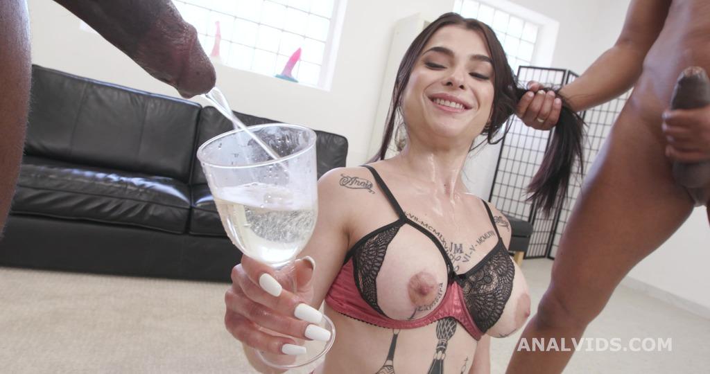 Black Pee Matter, Nadja Lapiedra, 2on1, BBC, ATM, First Time DAP, No Pussy, Gapes, Pee Drink, Creampie Swallow GL496