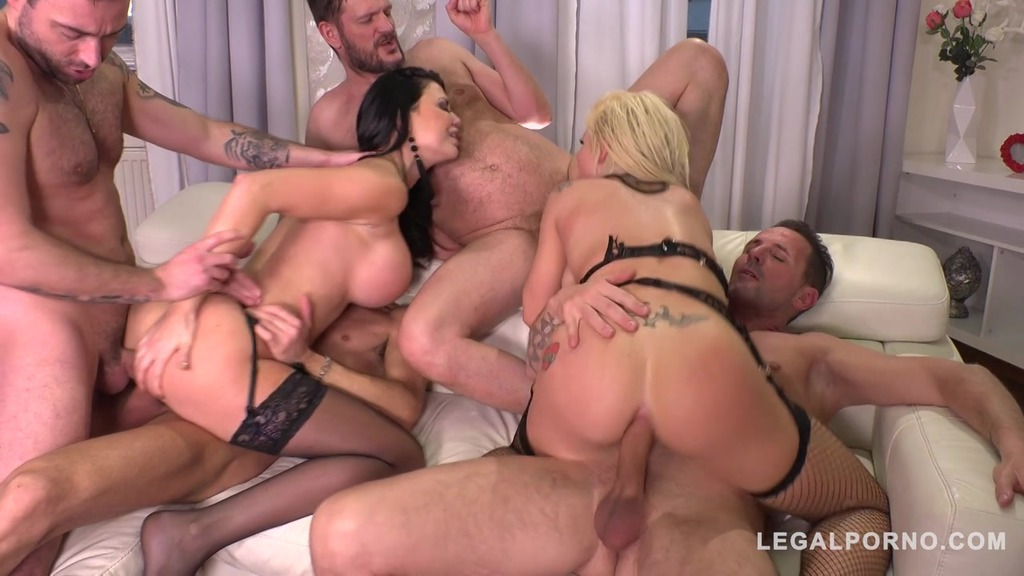 Double Anal Cum Sluts Jasmine Jae & Barbie Sins get Destroyed on Valentines FS037