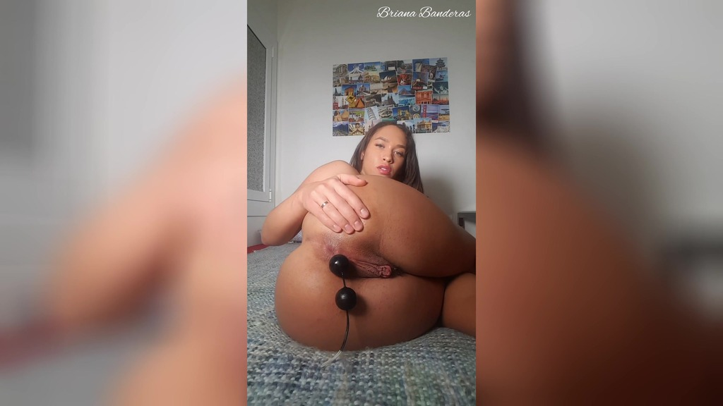 Anal fun with different toys BRB021