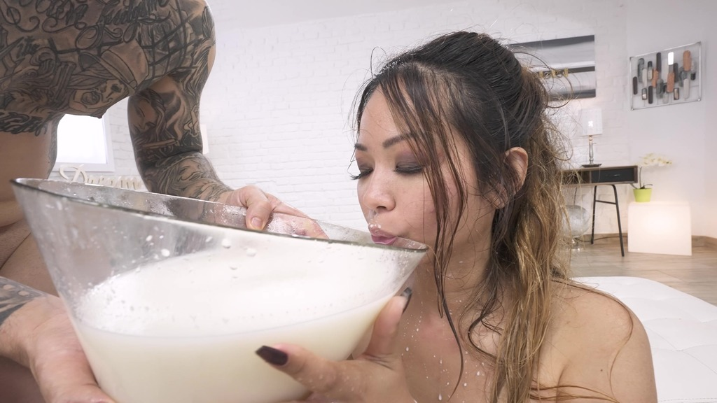 DAP only anal for Jureka Del Mar 0%pussy, white guys on asian girl, piss mix fruits and milk, real deep balls, rimming PAF028