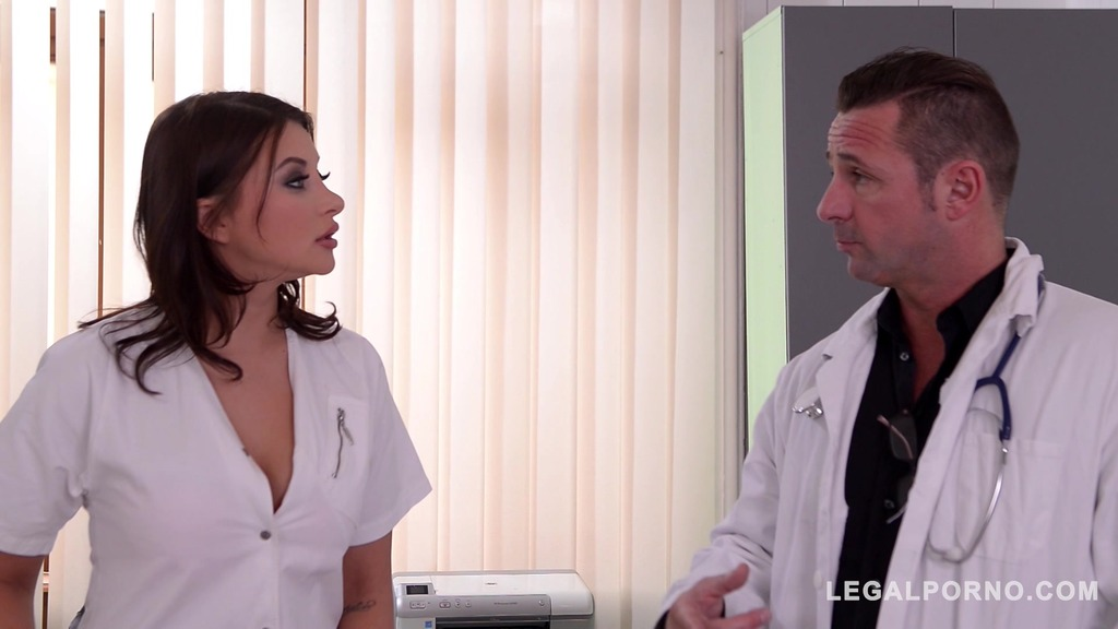 Double penetration at the clinic gives nurse Anna Polina chills of pleasure...