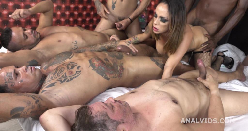 Barbara Alves 5on1 Balls Deep Anal, DP, DAP and cum in mouth GL378