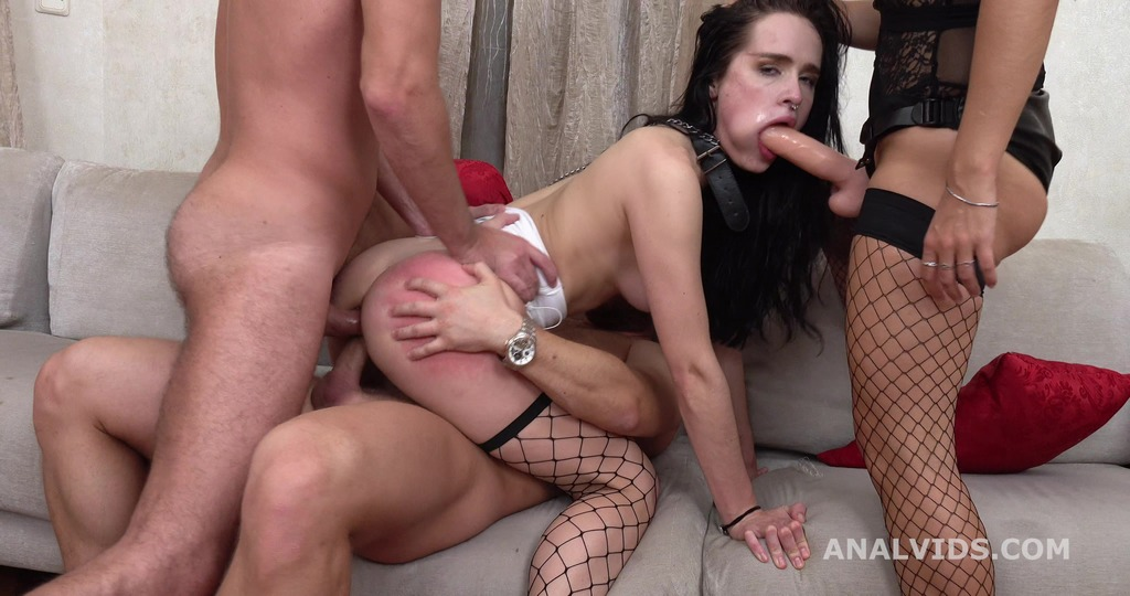 Mrs. Erika, Juicy Leila gets totally used with DAP, Gapes, Manhandle and Facial GL320