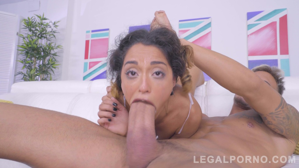Petite slut Scarlet Domingo Assfucked by Huge Cock