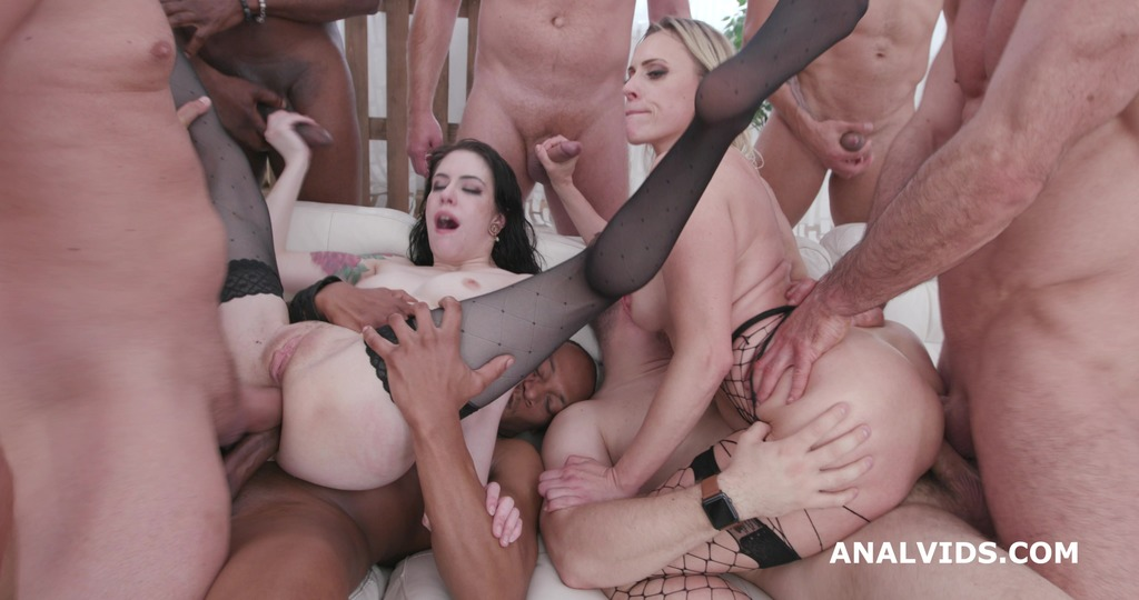Two of a Kind #2 Anna de Ville & Brittany Bardot Orgy with Squirt, Balls Deep...