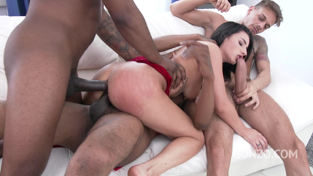 Nelly Kent 3on1 Airtight DP with three monster cocks SZ1981
