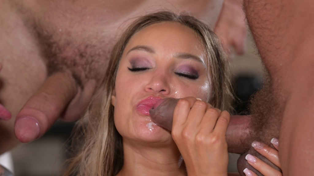 Chloe Lamour Makes Monika Fox Squirts Before They're Both DPd in Poolside Orgy GP2076