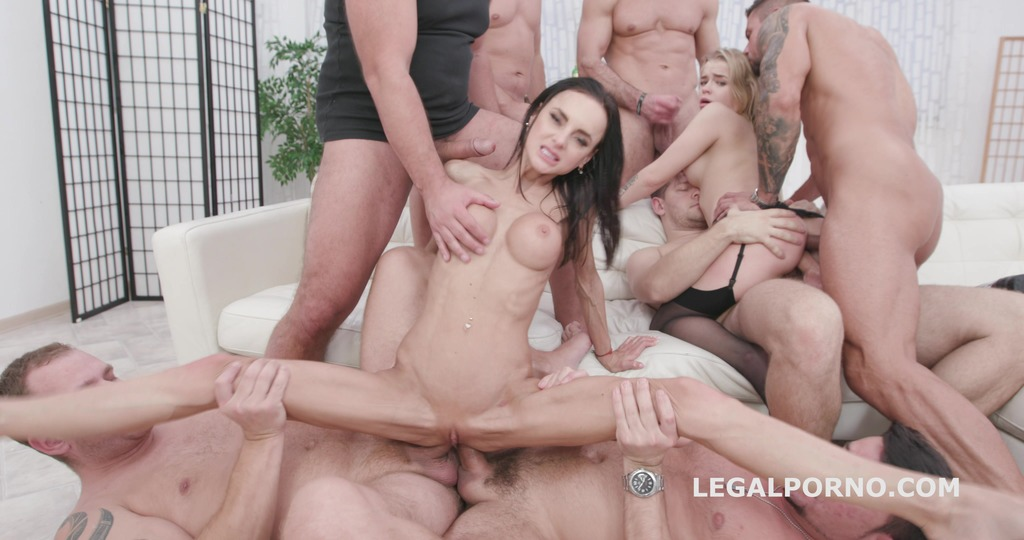 Russian Beauty #2 Aletta Black and Alexa Flexy 7on2 Balls Deep Anal, Gapes,...