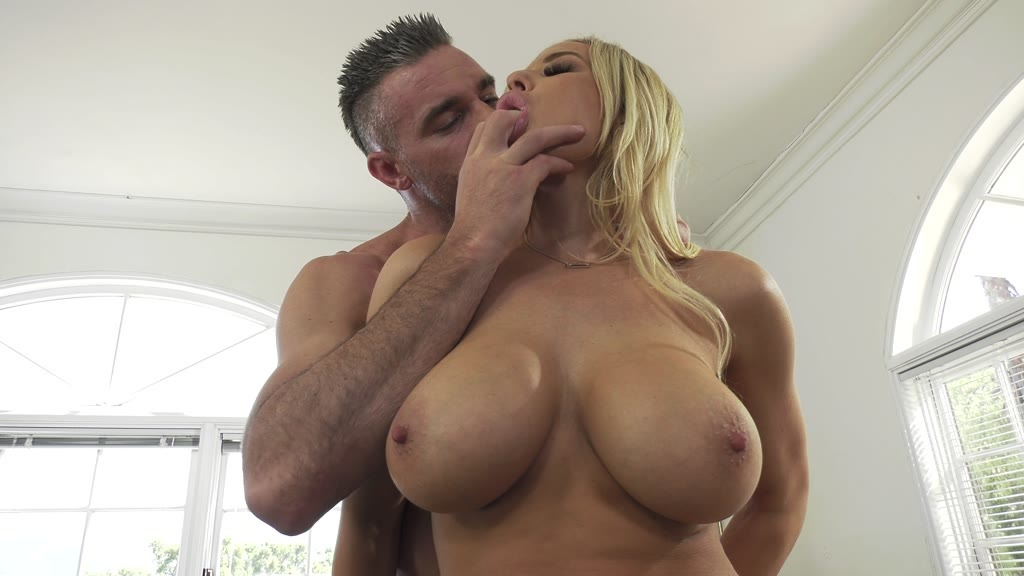 Busty American blonde Olivia Austin fucked hardcore in cowgirl and doggy GP1242