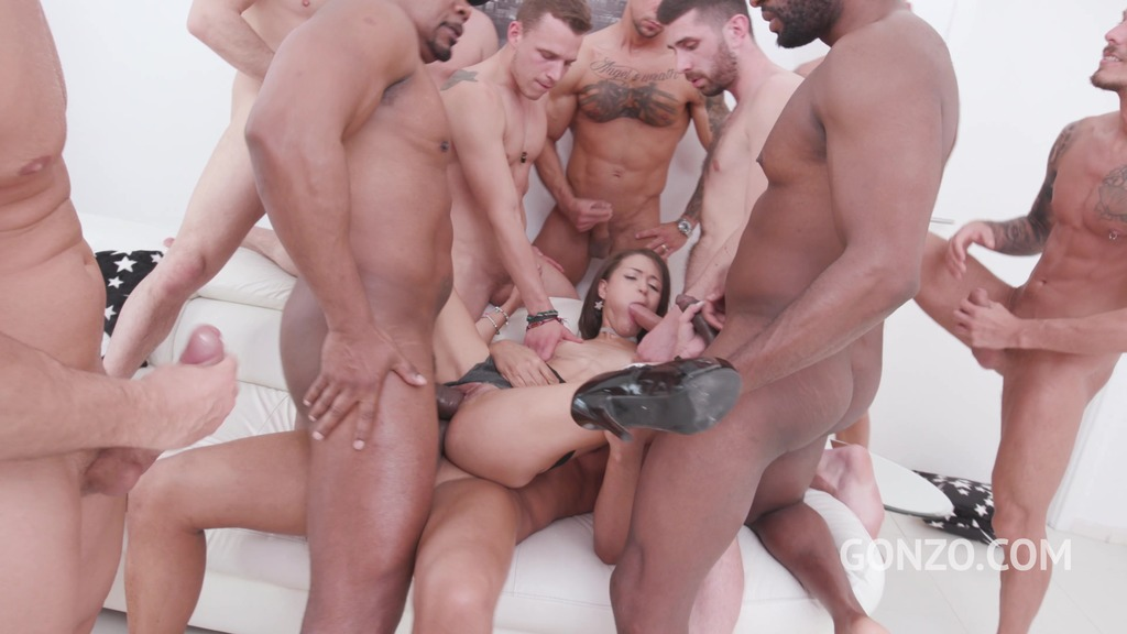 Polly Petrova assfucked by 1, 2, 3, 4 guys and then gangbanged by all 10 of them SZ2207