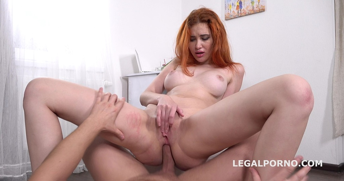Gisha Forza in Mr. Anderson's Anal Casting with Gisha Forza Balls Deep Anal, Gapes, Rough Sex, Cum in mouth GL068