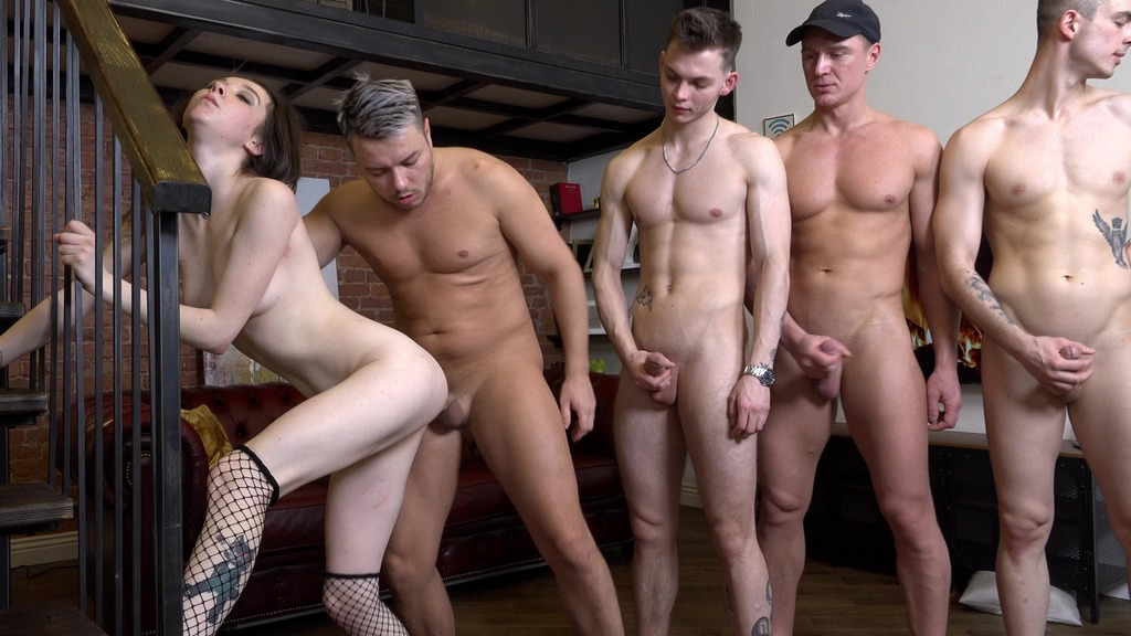 Captain Ekaterina Smit has been punished by four privates! Hard double anal penetration (first time balls deep anal) NRX083