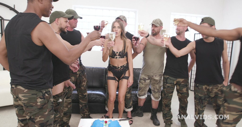 Eveline Dellai is Unbreakable #1 wet Bday Party, ATM, DAP, No Pussy, Pee, Pee Drink, Creampie Swallow, Cum in Mouth GIO1897
