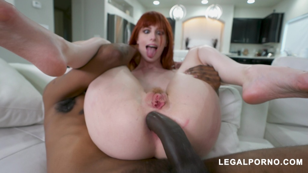 Alex Harper takes two big black dicks at once AB020