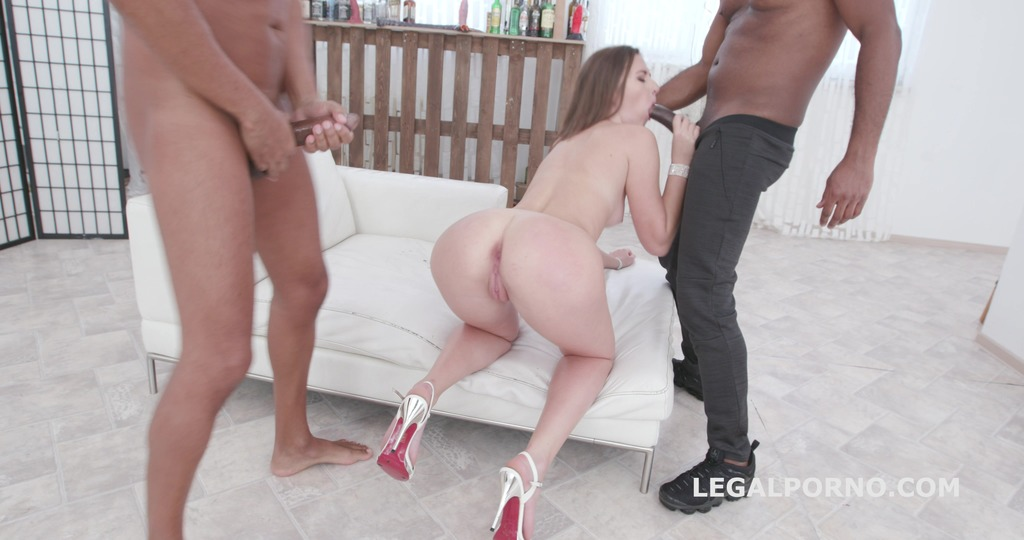 Alessandra Amore first time BBC DP, Balls Deep Anal, Gapes, Messy cumshot with Swallow GL082