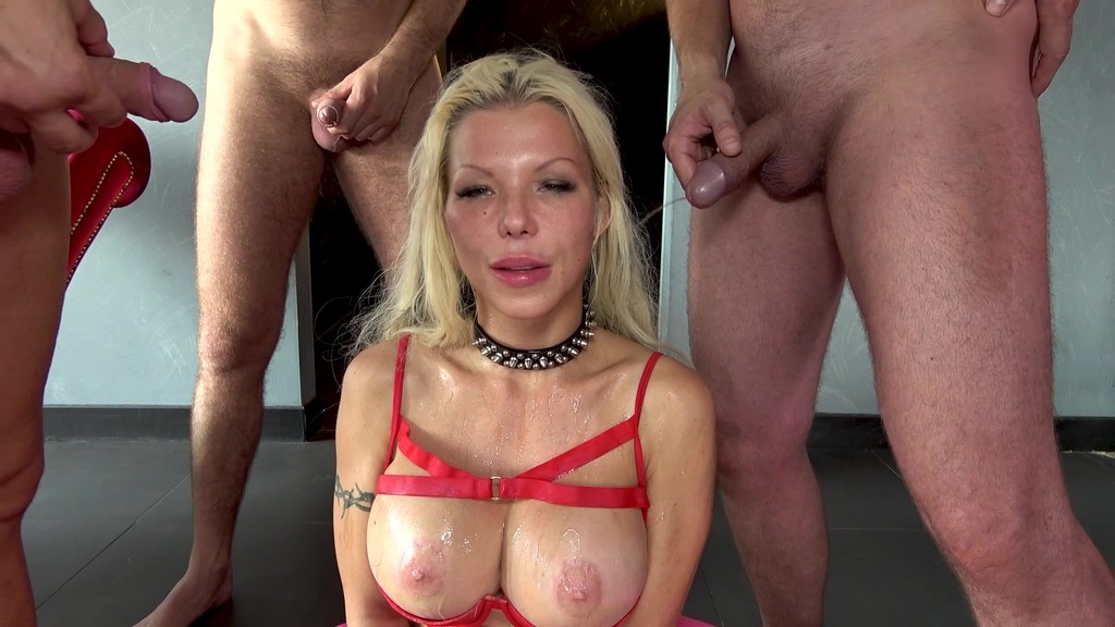 BARBIE SINS GANG BANG 5ON1 WITH PISS DRINKING & ANAL FISTING RA029
