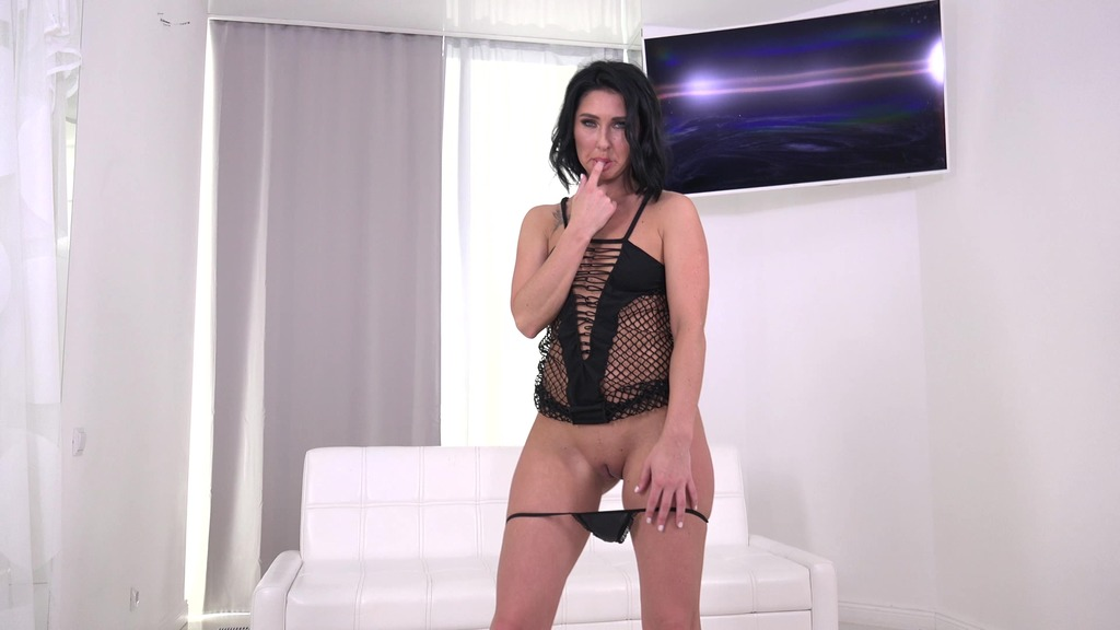 First DAP 4 on 1 for Eva Black with DP, Balls Deep Anal, Gapes and Cum in Mouth VG016