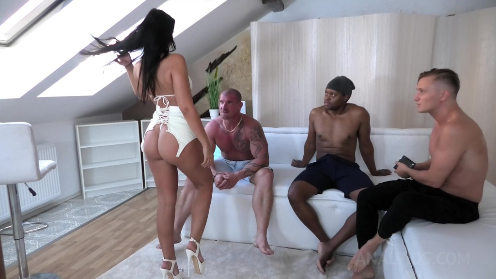Dancer Jennifer Mendez anal fucked hard by 3 Guys with DP, Ass to mouth, Rimming NF038
