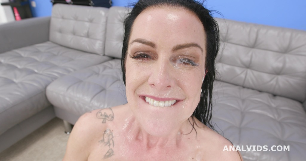 Texas Patti gets Squirted with 3 BBC for Balls Deep Anal, DAP, Gapes, Swallow and Facial GIO1633