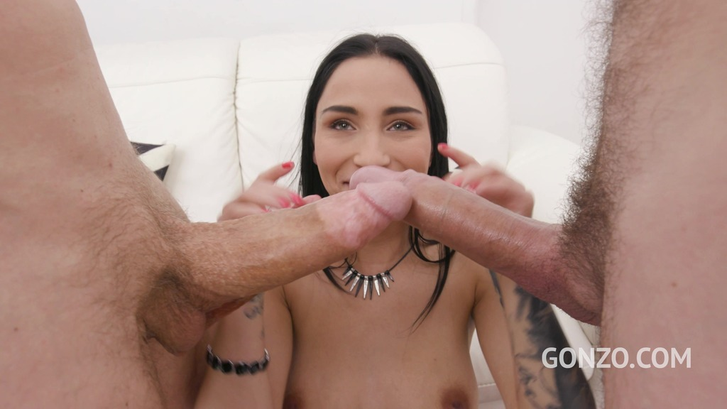 Sunny Luke welcome to Gonzo with first time anal & DP SZ2579