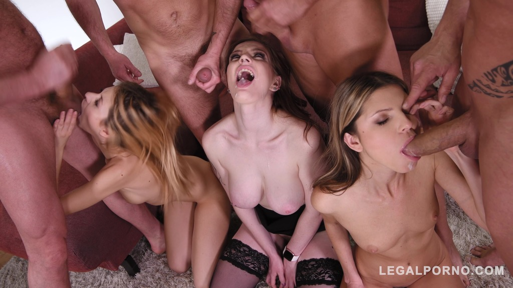 Sex Teacher Carly Rae shows Gina Gerson & Rebecca Volpetti how to Suck & Fuck...