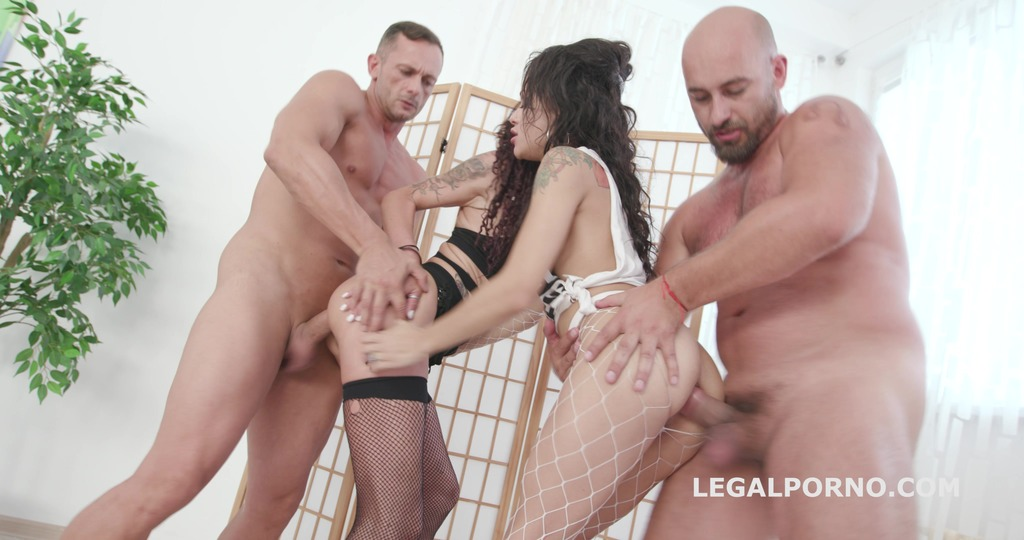 Fuck you we go 2on2 Lyna Cypher & Holly Hendrix Anal Battle with Balls Deep Anal, DAP, Squirt, Anal Fisting GIO776