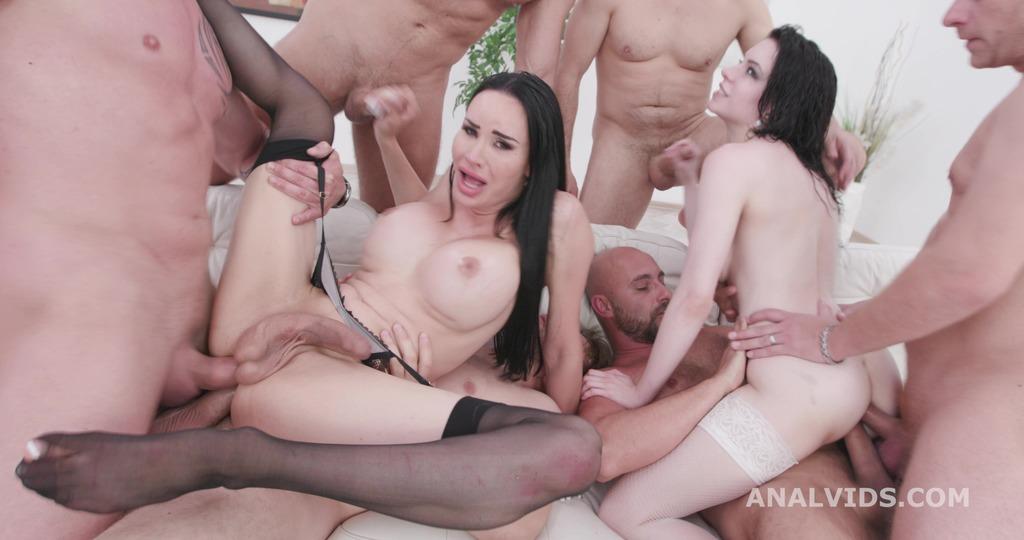 TS Kimberlee Vs Anna de Ville Part 2 (wet) Orgy, Gapes, Pee Drink, Butt Rose, Anal Fisting, DAP, Creampie BTG029