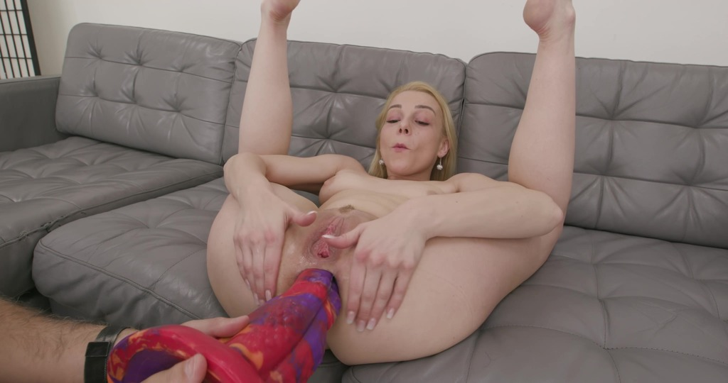 Rebecca Sharon Tests the Khun Handmade Dildo Size XL with additional Anal Fisting TWT019