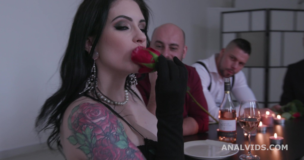St valentine's goes Well, Anna de Ville Messy fantasy with Balls Deep Anal, DAP, Gapes, Buttrose and Anal creampie GIO1750