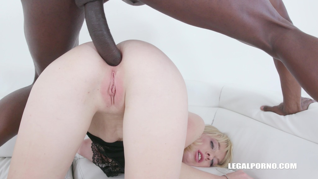 Young Alisia enjoys black feeling and takes two cocks in the ass IV355
