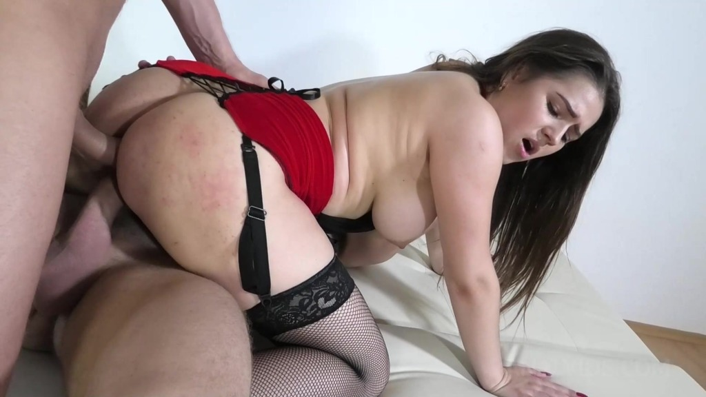 First time double penetration for Serina Gomez (Balls Deep DP, Sucking,...