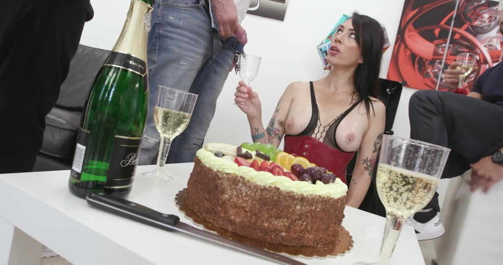Adeline Lafouine is Unbreakable bday party Wet #1, Anal Fisting, DAP, Monster ButtRose, Pee Drink, Creampie Swallow GIO1906