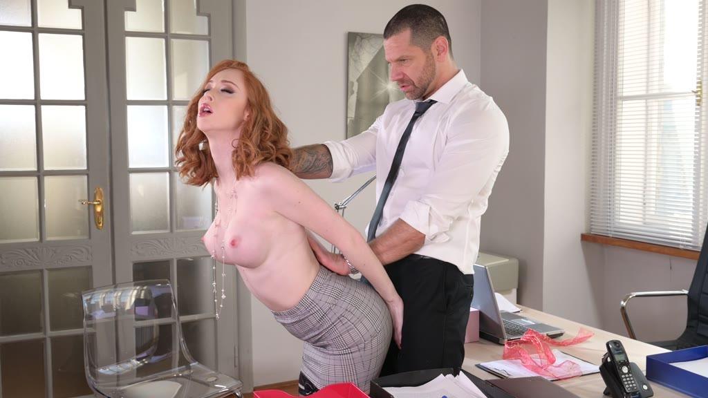 Sexy secretary Lenina Crowne cowgirl fucks her boss and gets a gooey facial GP1379