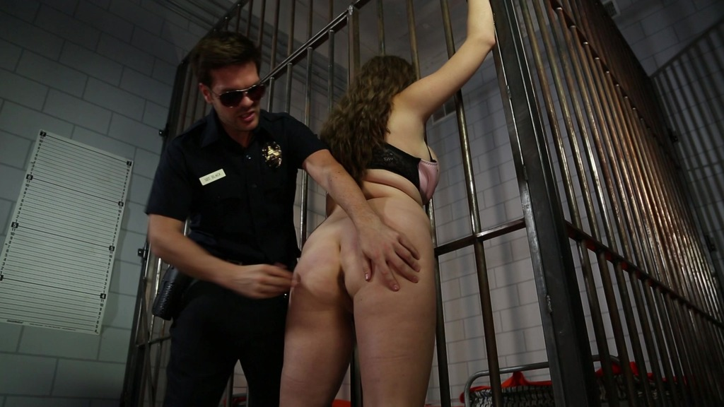 Busty cum-loving chick Alex Chance fucked by police officer in prison cell GP648