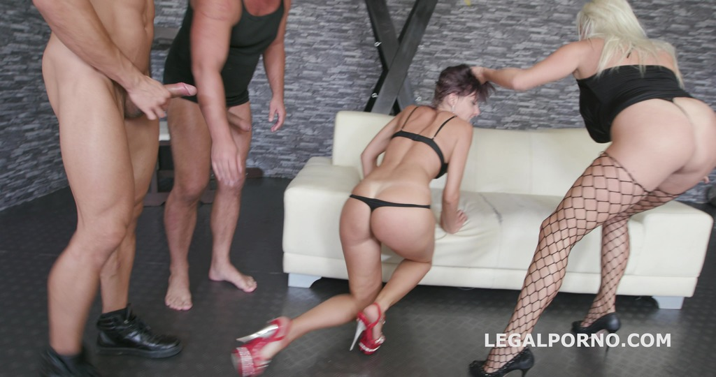 Take no Prisoners Brittany Bardot dominates Vicky Sol with Balls Deep Anal,...