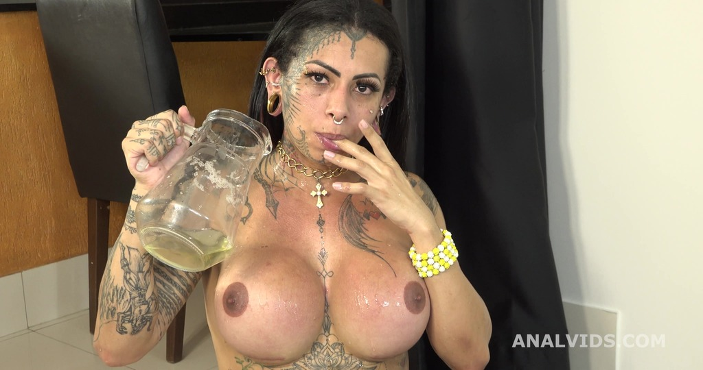 Brazilian T-Girls go wet, Izabelly Ferreira Vs 5 Boys with Balls Deep Anal, DAP, Gapes, Pee and Cum in Mouth BTG050