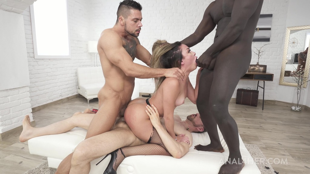 Martina Smeraldi is back with 3on1 anal fucking deep and hard AF007