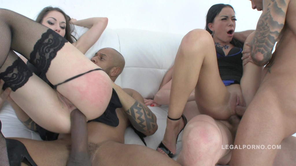 Arwen Gold & Inga Devil 3on2 fuck session with DP, DAP & double pussy SZ1154