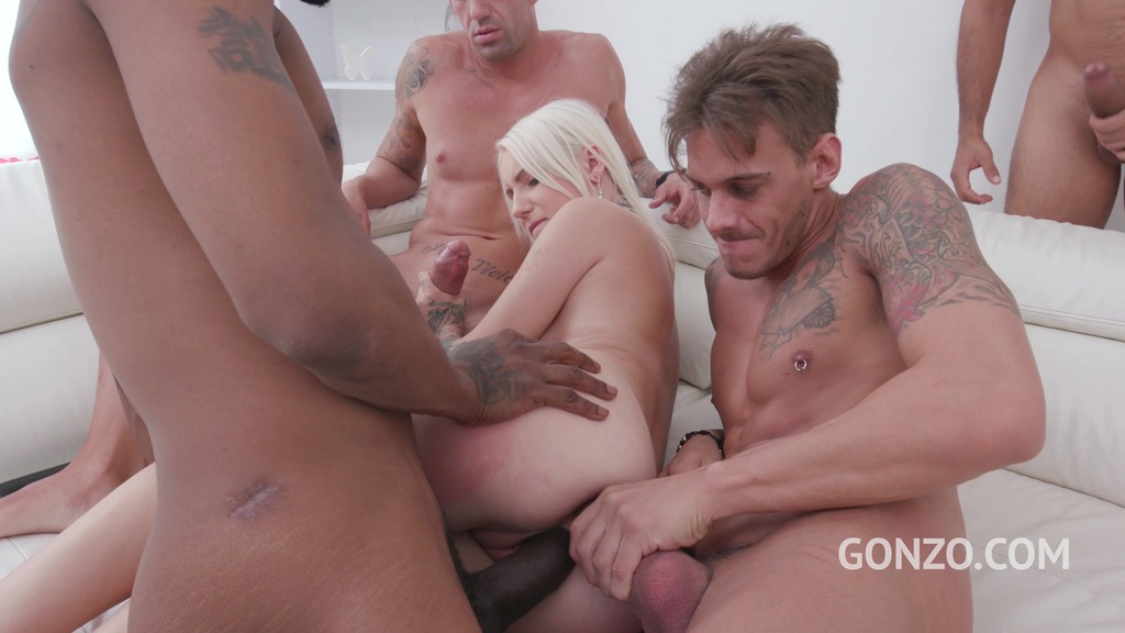 Ciri takes on four cocks and gets intense balls deep DP SZ2251