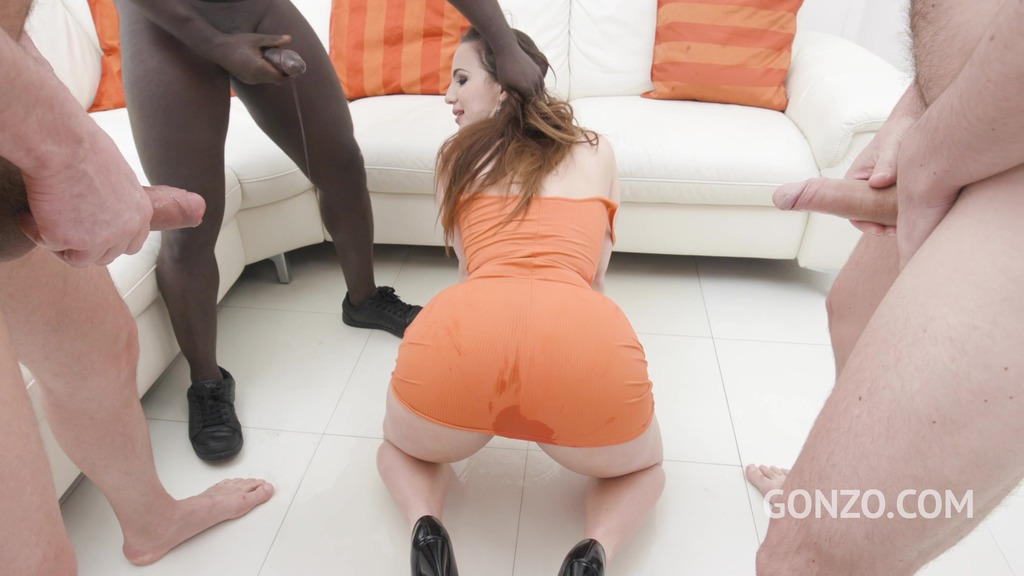 Kristy Black double anal fucked 5on1 with 0% Pussy and Piss Drinking SZ2655