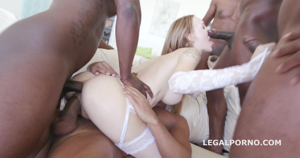 Black Busters, 5on1 Belle Claire interracial BALL DEEP /DP /DAP /GAPES /5 SWALLOW GIO222