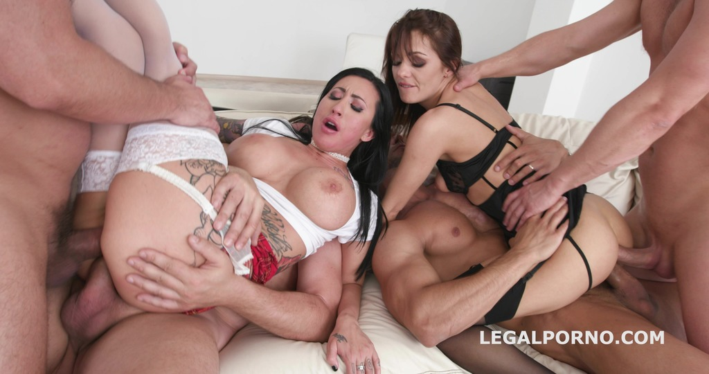 Double Addicted with Anal fisting Lily Lane & Dominica Phoenix Balls Deep...